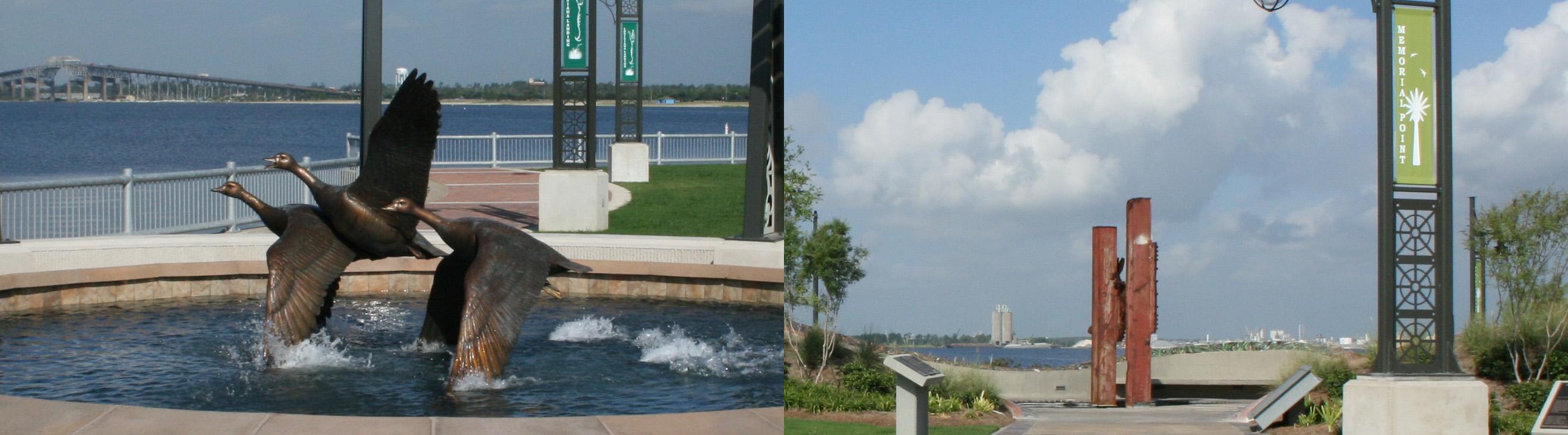 Louisiana Landing & Memorial Point