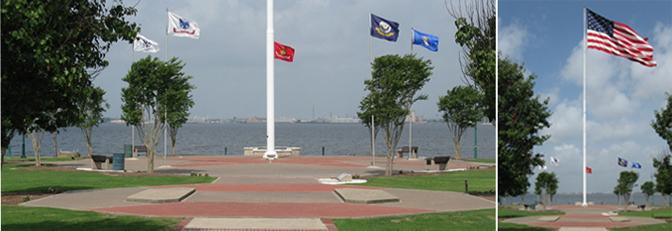 Veterans Memorial Park Flags
