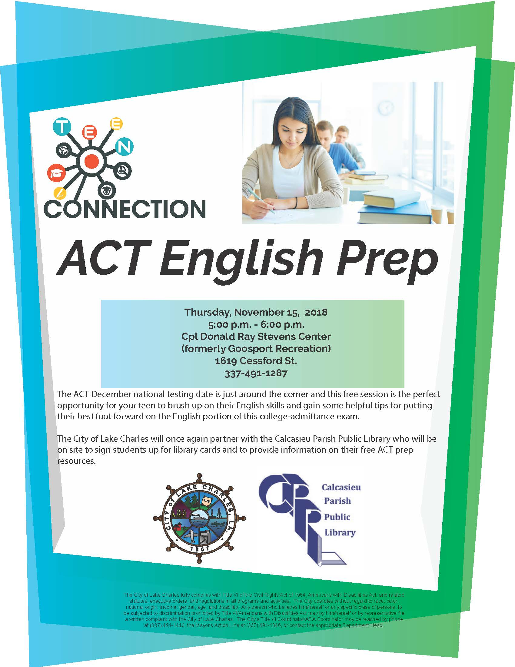 Document Center / November Teen Connection Sessions to Focus on